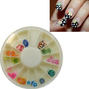 Decori 3d Decoro Unghie Decorazione Unghia Frutta Fiori Ruota Manicure Nail Art Ebay