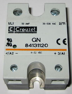 Crouzet Solid State Relay 530V AC 50A GN 84131120 432 VDC