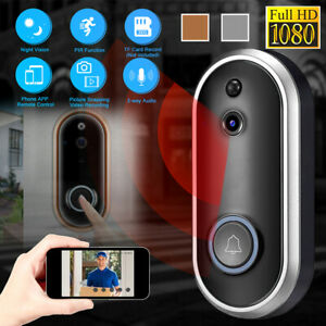 Wireless-Doorbell-WiFi-Smart-Door-Bell-IR-Video-Visual-Camera-Home-Intercom-Ring