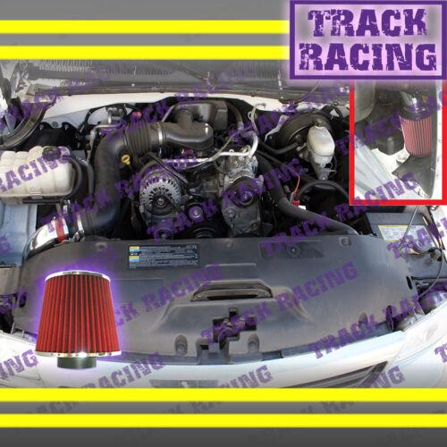 99 00 01 02 03 04-07 CHEVY//GMC//CADILLAC TRUCKS//SUVS V8 COLD AIR INTAKE KIT Red