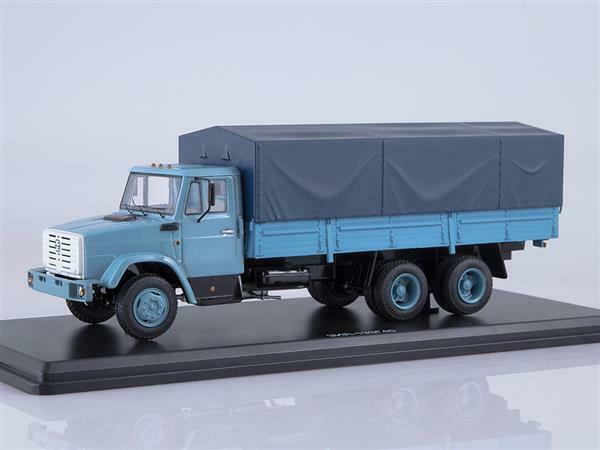 1 43 SSM ZIL-133G40 flatbed truck with tent blu 1257