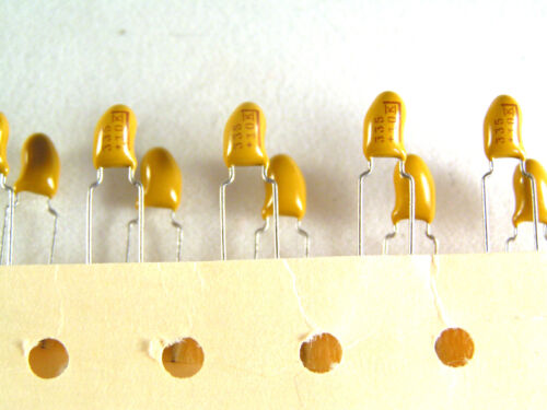 Kemet Dipped Tantalum Bead Capacitors 3.3uf 10V 5mm Pitch 10pcs OL0426