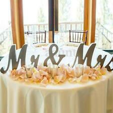 Large Wooden Mr and Mrs Letters Sign Standing Top Table Wedding Venue Decoration