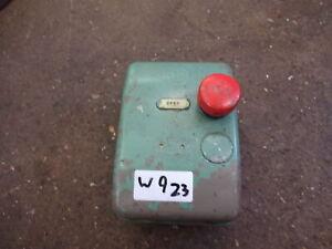 Colchester Bantam lathe stop switch / 3PH