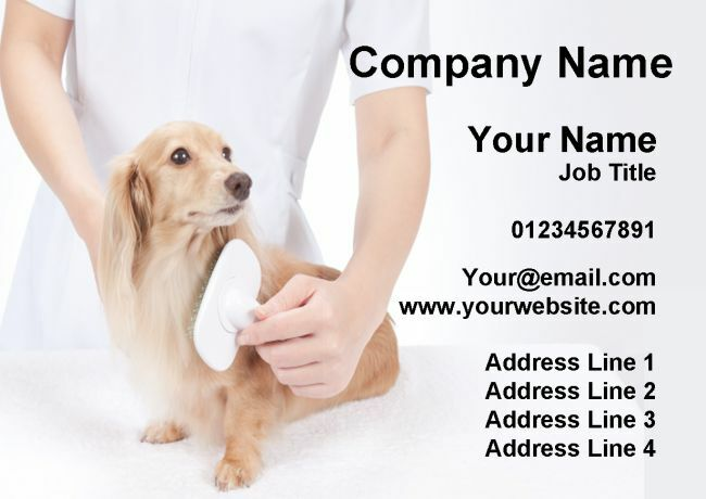 Dog Cat Animal Groomer Grooming Service Personalised Business Cards