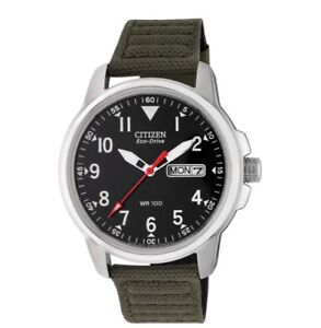 citizen men's eco drive canvas strap watch