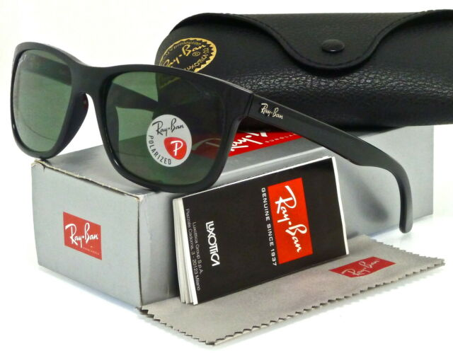 717fda1d35e Ray-Ban RB 4181 601 9a 57mm Shiny Black Frame Polarized Green Lenses  Sunglasses