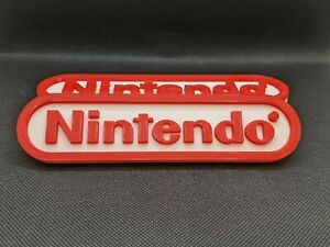 Nintendo logo sign  3D Printed 6.5in video game accessory shelf & desk art