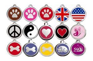 Medaille-acier-RED-DINGO-gravee-pour-animaux-chien-ou-chat-3-tailles-15-motifs