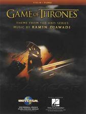 Game of Thrones Theme for Violin & Piano Sheet Music Ramin Djawadi Soundtrack