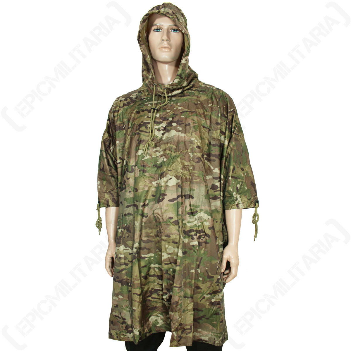 Multitarn Camo Rip Stop Poncho - Emergency  Shelter Military Festival Camping  incentive promotionals