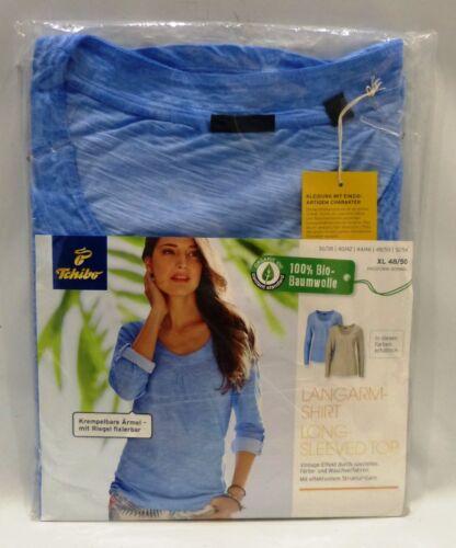TCM Tchibo Damen Langarmshirt 100/%Bio-Baumwolle Normale Passform