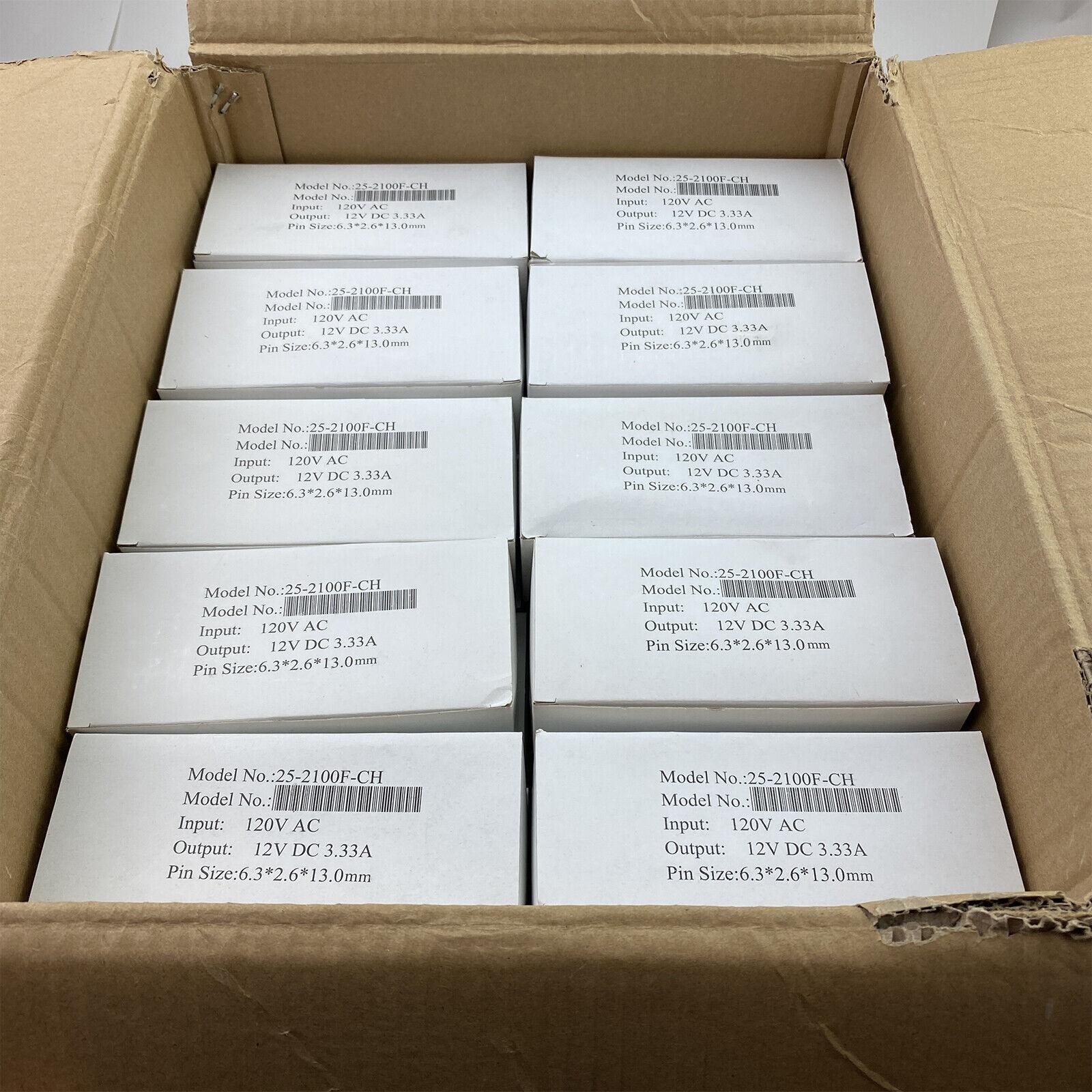 Lot of (50) - NEW 40W AC Adapter 12V 3.33A G40DD-120333-A 6.3x2.6x13.0mm