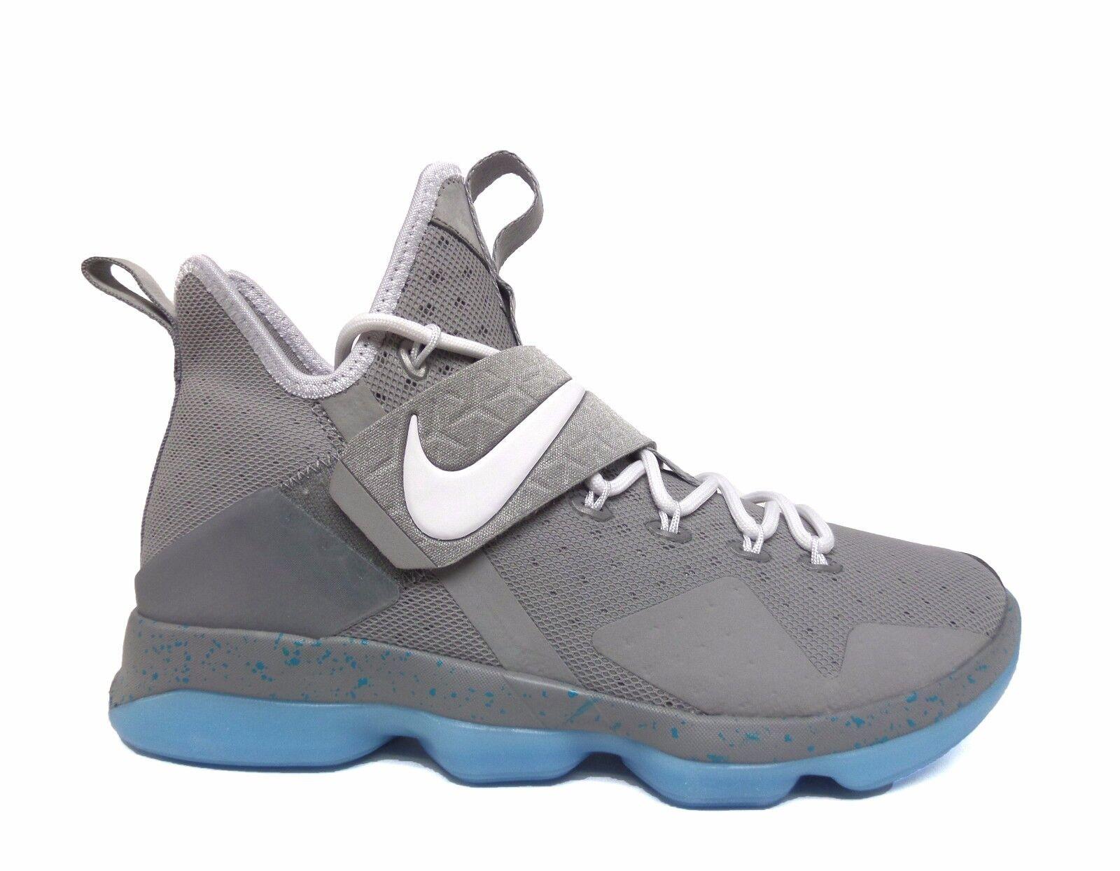 Los hombres zapatos de baloncesto baloncesto baloncesto de nike LeBron XIV plata mate / blanco / Azul 852405-005 B a8d9fd