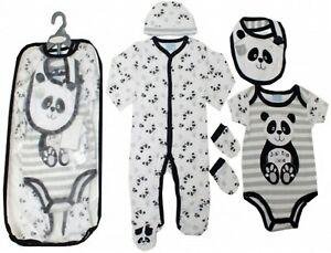 DéTerminé Bébé Filles Garçons Sleepsuit Bib Hat Babygrow Layette Sac Cadeau Set Ange Body-afficher Le Titre D'origine Excellente Qualité