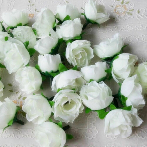 10Pcs Artificial Simulation Rose Silk Flowers Heads Wedding Party DIY Home Decor