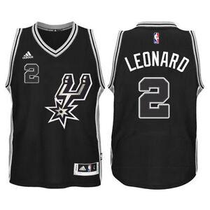 new product b543f 4eaef Details about KAWHI LEONARD NBA ADIDAS SAN ANTONIO SPURS BLACK SWINGMAN  ALTERNATE JERSEY $110