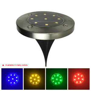 Solar-Power-9LED-Ground-Lights-Floor-Decking-Patio-Outdoor-Garden-Lawn-Path-Lamp