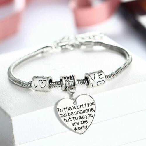 Best Friend//Sister//Birthday//MUM Bracelet Tibetan Silver Charm Personalised Gifts