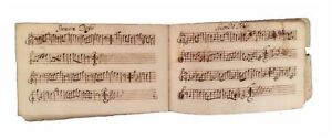 CHASSE-A-COURRE-18th-Century-Autograph-Musical-Manuscript-for-HUNTING-HORNS