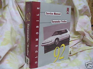 1992 OLDSMOBILE  -  FACTORY SERVICE  MANUALS TORONADO  / TROFEO