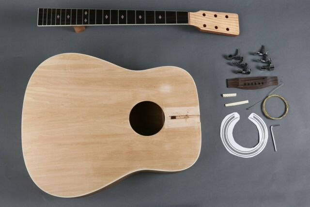 NEW 6 STRING UNFINISHED DIY DREADNAUGHT ACOUSTIC GUITAR LUTHIER BUILDER KIT 41""