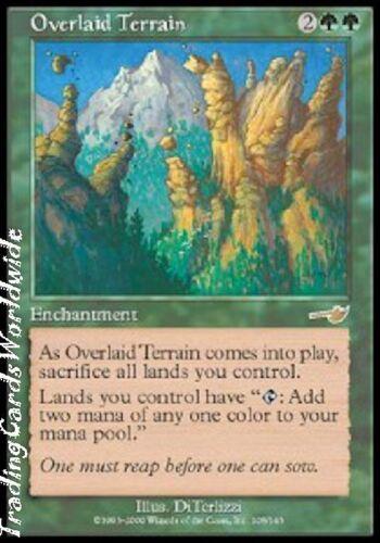 //// Magic the Gathering 4x Overlaid Terrain //// NM //// Nemesis //// engl