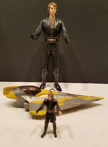 Hasbro-LFL-2012-Star-Wars-Anakin-Skywalker-12-in-Action-Figure-amp-Jedi-Fighter