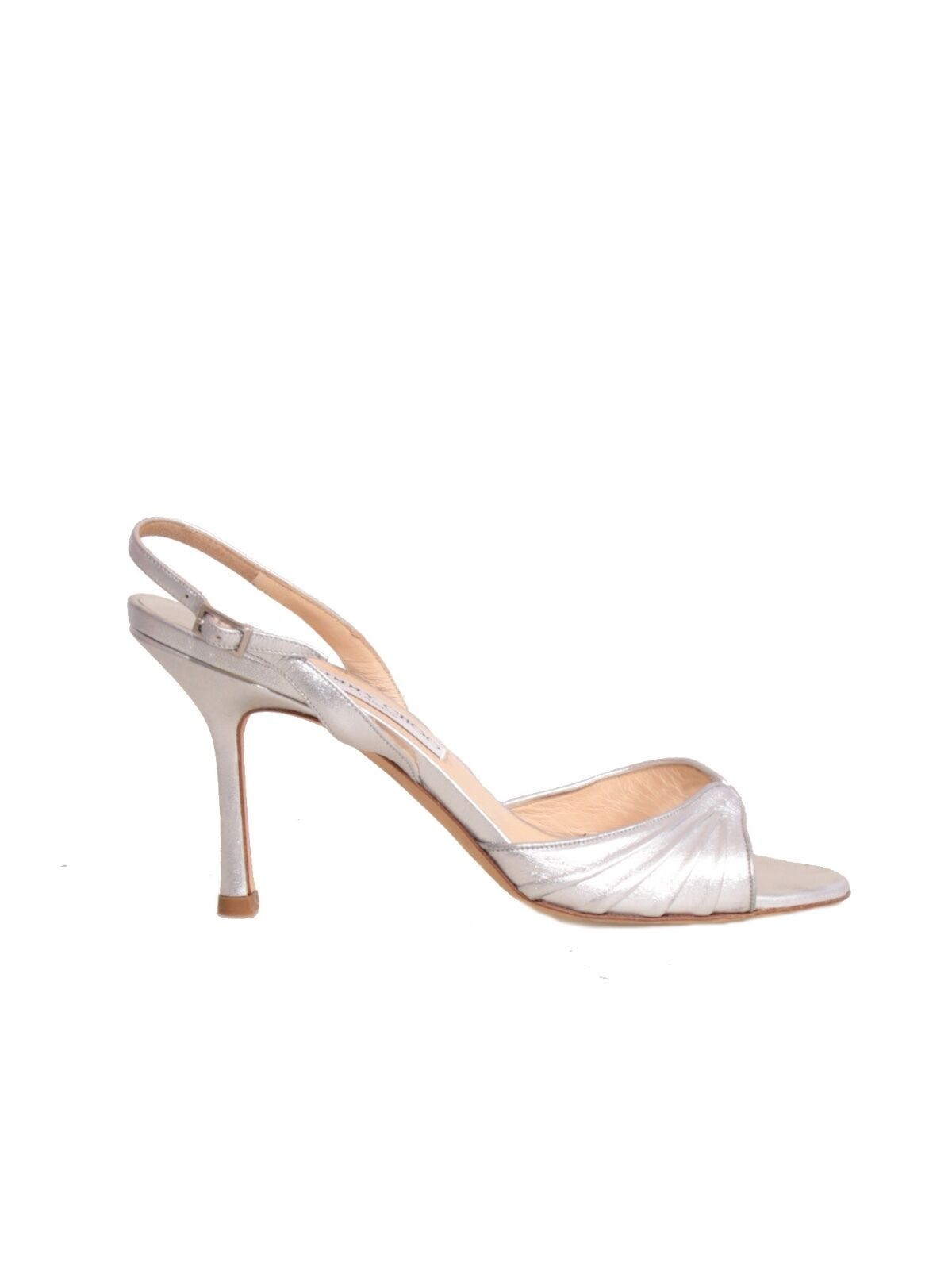JIMMY CHOO Metallic Slingback Sandals argent (Taille 38)