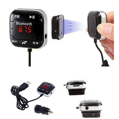 Handsfree Bluetooth 4.0 FM Transmitter MP3 Player USB SD LCD Remote for Phone