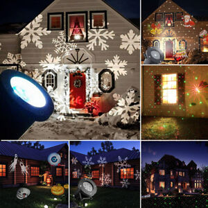 Outdoor Garden Christmas Light Snowflake Led Laser