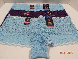 Maidenform 3 Pair Lace Cheekies Boyshorts Panty Underwear Sz M//6 Mixed Lot NWT