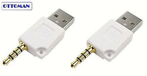 2X USB DATA CHARGER ADAPTER CORD FOR APPLE IPOD SHUFFLE 3RD 4TH 5TH 6TH 7