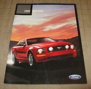 2008 FORD MUSTANG Color Dealer Brochure - Booklet - Nice!
