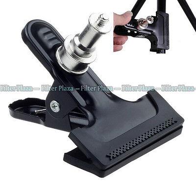 "Heavy Duty Metal Clamp Clip 1/4"" Screw For Photo Studio Camera Flash Light Stand"