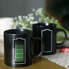 New Mug Magic Battery Pattern Coffee Heat Cold Hot Temperature Sensitive Cup CB