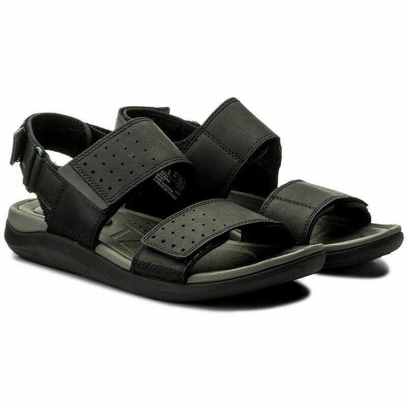 Clarks Garratt Active Black Nubuck Men's Leather Sandals UK Size 8 1/2 G