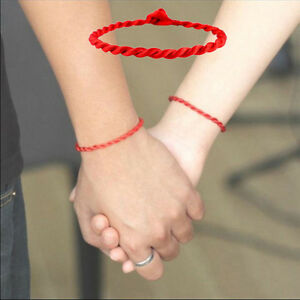 2pcs-Simple-Unisex-Red-Kabbalah-String-Lucky-Handmade-Bracelet-Adjustable