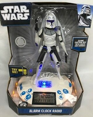 Alarm Clock /Radio Star Wars Clone Wars, Clone Capt  Rex W/Lights & Sounds  | eBay