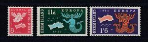 Europe-Cept-1962-Herm-3-Values-Cinderella-MNH