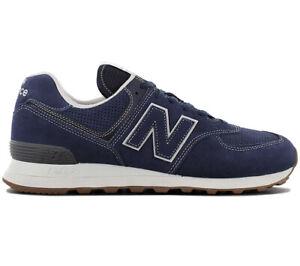 New Balance – 574 – Blaue Turnschuhe aus Wildleder