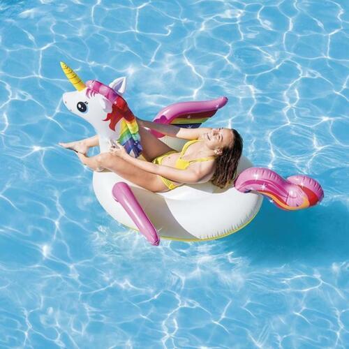 EINHORN RideON Schwimmring Reittier Badetier Lounge Luftmatratze INTEX 57561