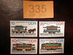 Germany-DDR-1986-Trams-stamps-MNH
