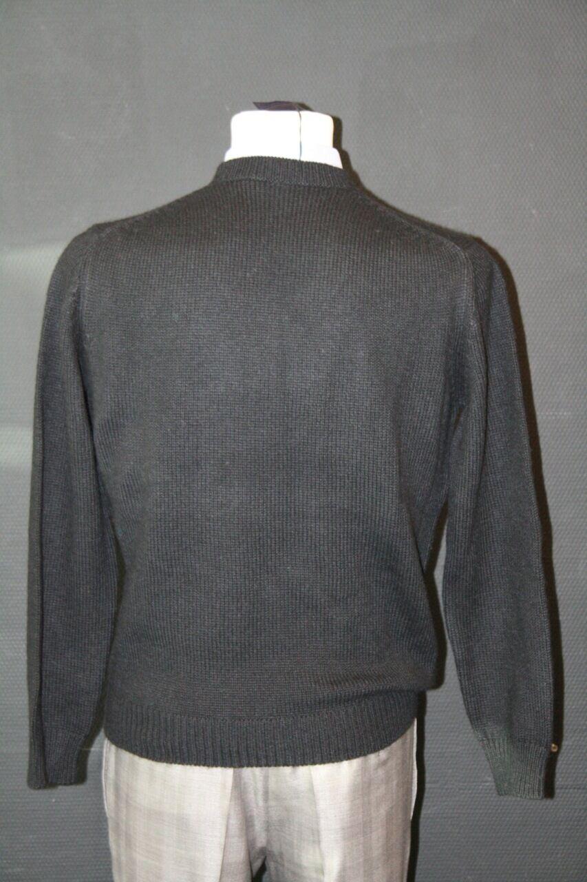 PRADA MILANO LUSSO Pullover Pullover Pullover 100% Alpaca Lana Nuovo Taglia L 52 umn708 made in Perù 777d78