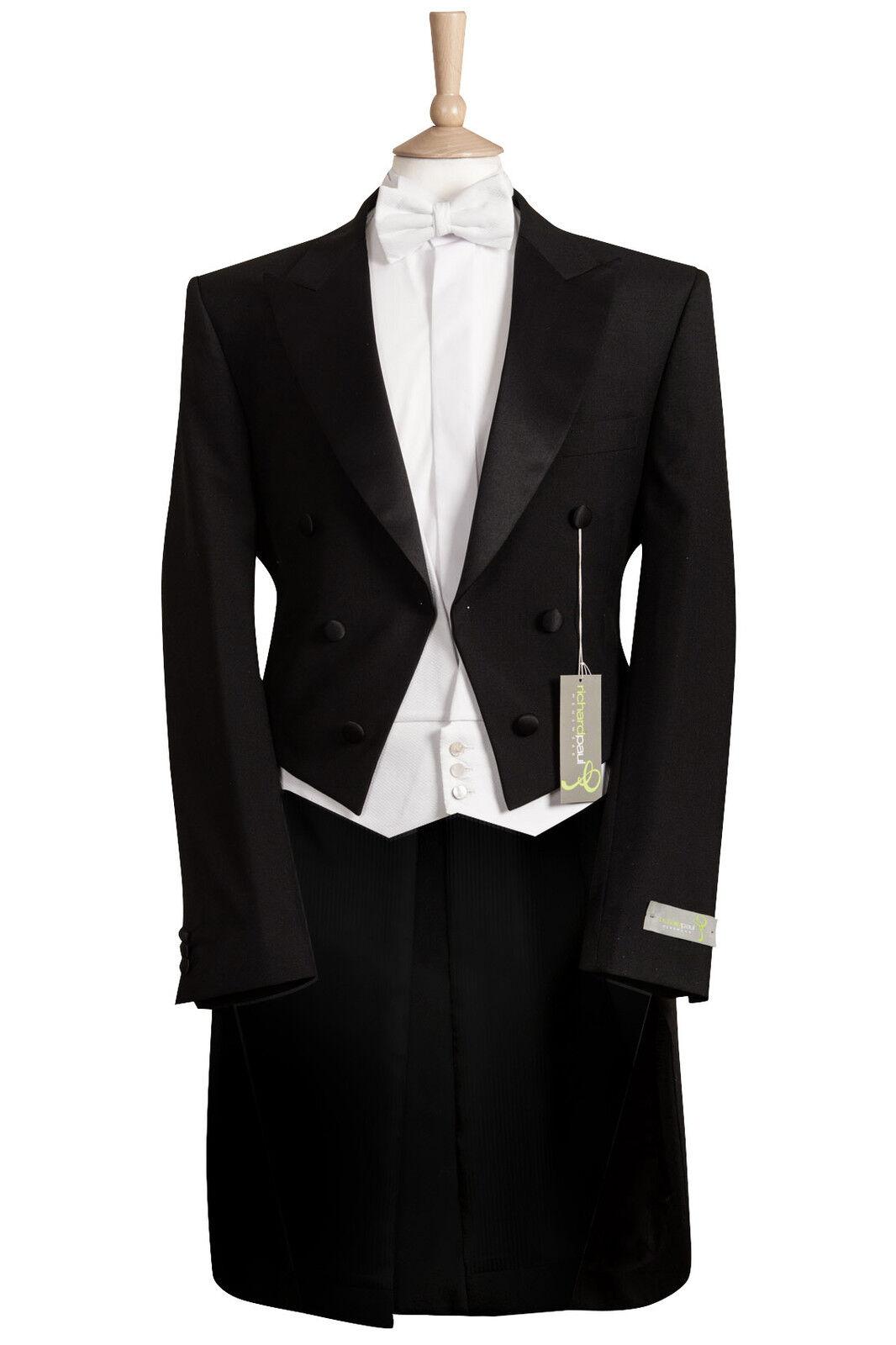 Neu Herren Schwarz Abend Weiß Krawatte Schweife Kleid Mansion House Hochzeit   | Treten Sie ein in die Welt der Spielzeuge und finden Sie eine Quelle des Glücks  | Hohe Qualität und geringer Aufwand  | Attraktives Aussehen