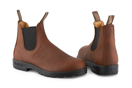 Chelsea Pebble 1445 Blundstone in marrone Grizzly Boots pelle vOx66w4E