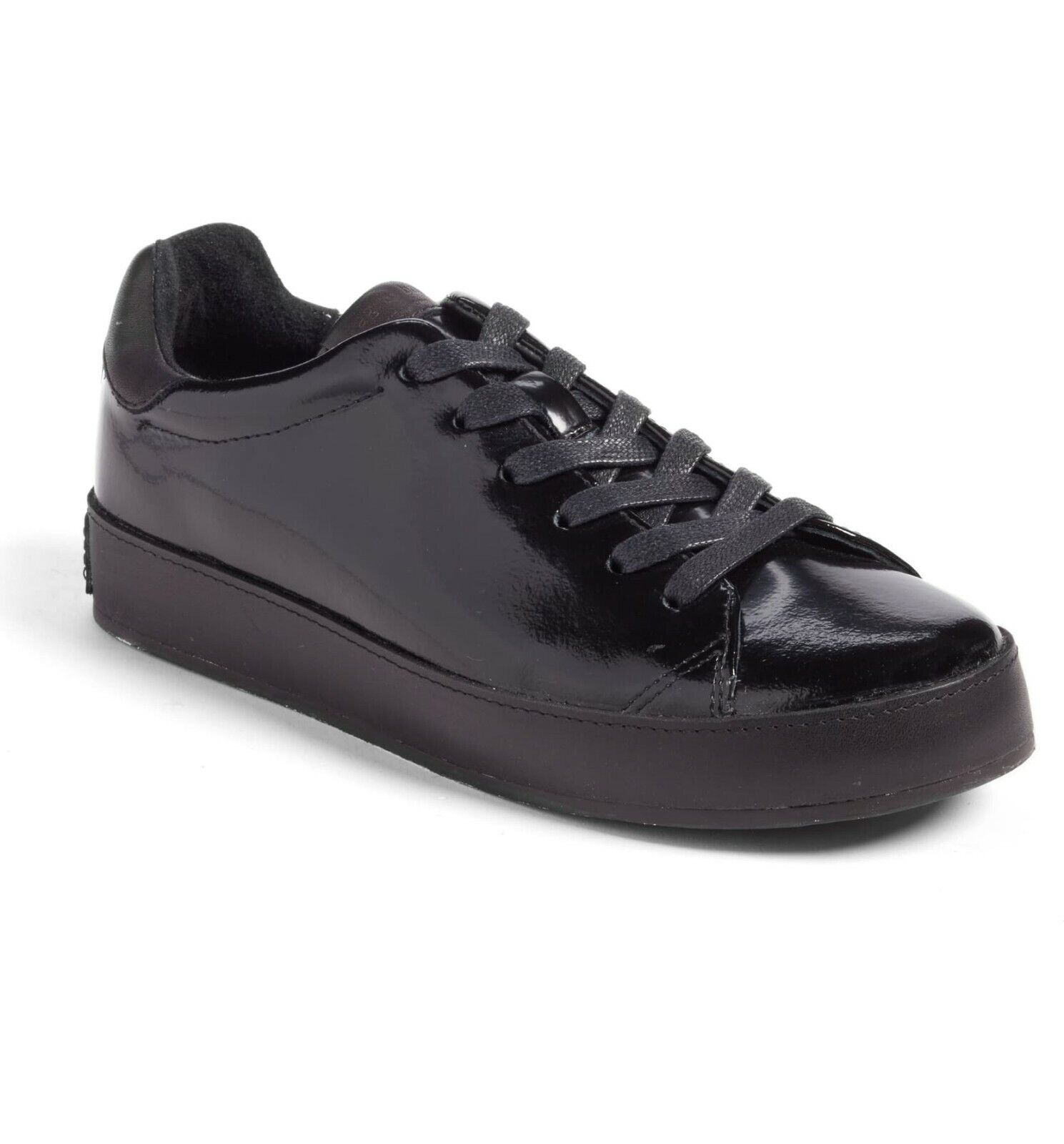 Rag & Bone RB1 Low-Top Leather SNEAKER shoes Women black sz.39.5 NWOB