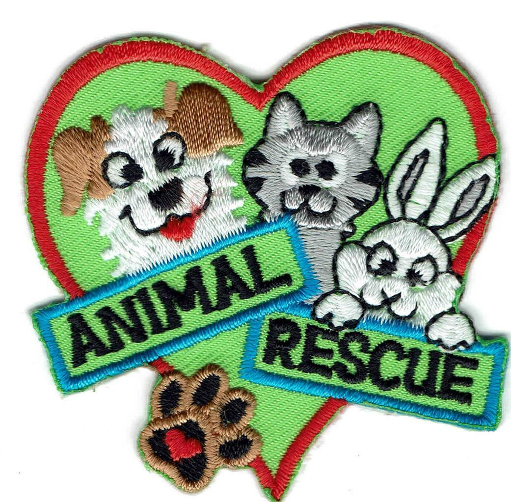 Girl Boy Cub Animal Rescue Care Adoption Fun Patches Crests Badges Scout  Guides