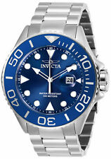 Invicta Men's 28766 Pro Diver Quartz 3 Hand Blue Dial Stainless Steel Watch