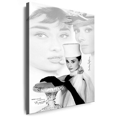 Leinwandbild Audrey Hepburn Foto Druck Gemälde, Bilder Kunstdrucke Deko Bild Art